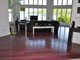Purpleheart Flooring in an Upscale Home
